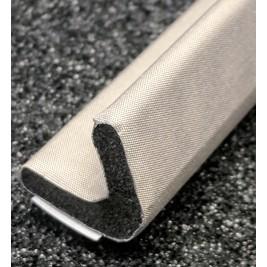450-0170-0170SFG Fabric Over Foam Conductive Gasket V Shape 17.0mm x 17.0mm (WxH)