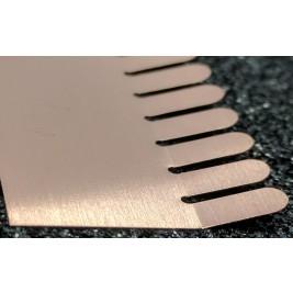 ECP 670  Beryllium Copper (Be/cu) Fingerstrip 23.37mm x 2.29mm (WxH)
