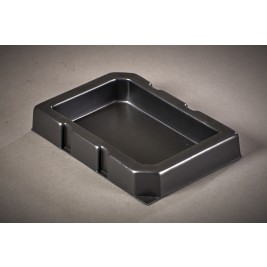 ECP 1050/2/1C/40 Anti Static Conductive Black Vacuum Formed Tray 175 x 250 x 40mm