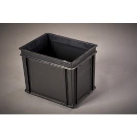 ECP 1060 Anti Static Conductive Black Tote Box 400 x 300 x 319mm (External)